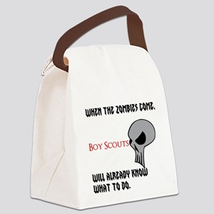 boy scouts vs zombies Canvas Lunch Bag