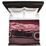 Hot Rod at Bonneville King Duvet