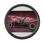 Hot Rod at Bonneville Large Wall Clock