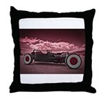 Hot Rod at Bonneville Throw Pillow