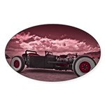 Hot Rod at Bonneville Sticker (Oval 50 pk)