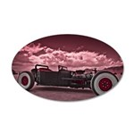 Hot Rod at Bonneville 35x21 Oval Wall Decal