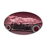 Hot Rod at Bonneville 20x12 Oval Wall Decal
