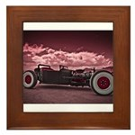 Hot Rod at Bonneville Framed Tile