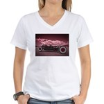 Hot Rod at Bonneville Women's V-Neck T-Shirt