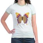 Quills Butterfly Jr. Ringer T-Shirt
