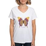 Quills Butterfly Women's V-Neck T-Shirt