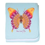 Quills Butterfly baby blanket
