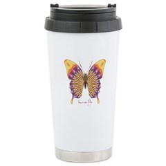 Quills Butterfly Stainless Steel Travel Mug