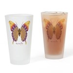 Quills Butterfly Drinking Glass