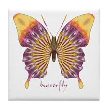 Quills Butterfly Tile Coaster