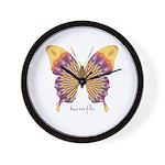 Quills Butterfly Wall Clock