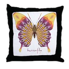 Quills Butterfly Throw Pillow