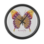 Quills Butterfly Large Wall Clock