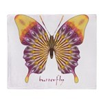 Quills Butterfly Throw Blanket