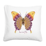 Quills Butterfly Square Canvas Pillow