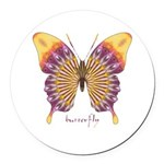 Quills Butterfly Round Car Magnet
