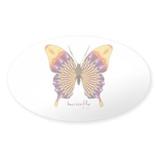 Quills Butterfly Sticker (Oval)