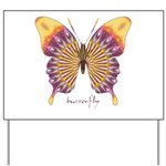 Quills Butterfly Yard Sign