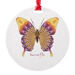 Quills Butterfly Round Ornament