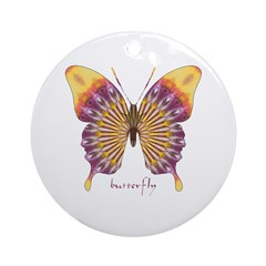 Quills Butterfly Ornament (Round)