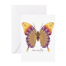 Quills Butterfly Greeting Card