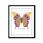 Quills Butterfly Framed Panel Print