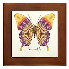 Quills Butterfly Framed Tile