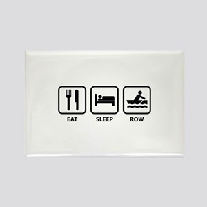 Eat Sleep Row Rectangle Magnet