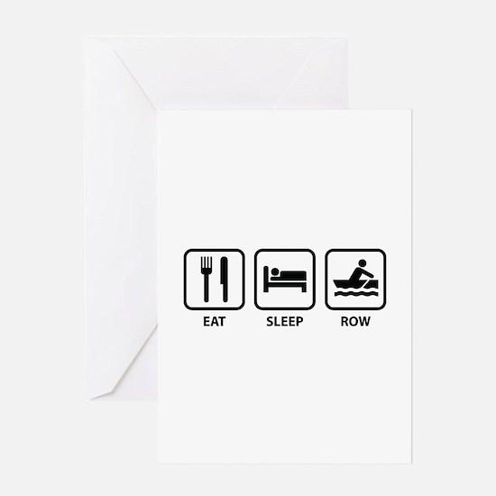 Eat Sleep Row Greeting Card