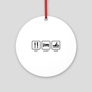Eat Sleep Row Ornament (Round)