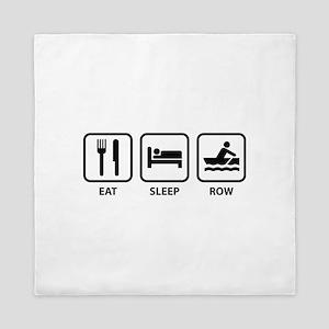Eat Sleep Row Queen Duvet
