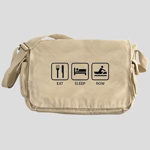 Eat Sleep Row Messenger Bag