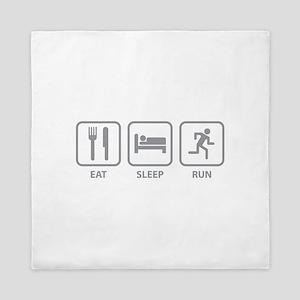 Eat Sleep Run Queen Duvet