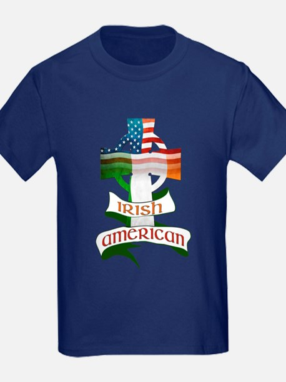 Irish American Celtic Cross T