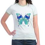 Bliss Butterfly Jr. Ringer T-Shirt