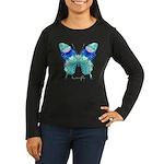 Bliss Butterfly Women's Long Sleeve Dark T-Shirt