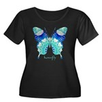 Bliss Butterfly Women's Plus Size Scoop Neck Dark