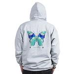 Bliss Butterfly B Zip Hoodie