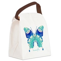 Bliss Butterfly Canvas Lunch Bag