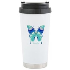 Bliss Butterfly Stainless Steel Travel Mug
