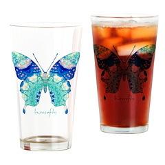 Bliss Butterfly Drinking Glass