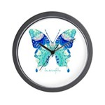 Bliss Butterfly Wall Clock
