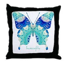 Bliss Butterfly Throw Pillow