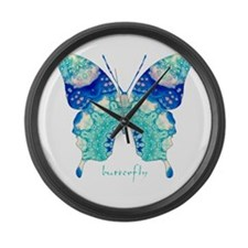 Bliss Butterfly Large Wall Clock