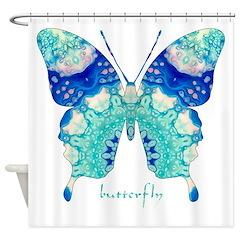 Bliss Butterfly Shower Curtain