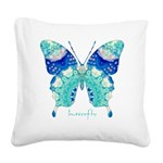 Bliss Butterfly Square Canvas Pillow