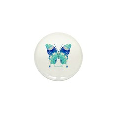 Bliss Butterfly Mini Button (10 pack)