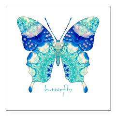Bliss Butterfly Square Car Magnet 3