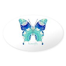 Bliss Butterfly Sticker (Oval)